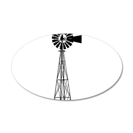 Windmill 35x21 Oval Wall Decal