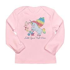Unicorn Rainbow Star Long Sleeve Infant T-Shirt