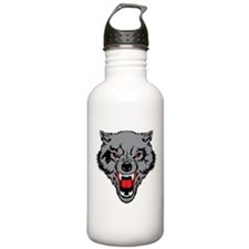 Angry Wolf Water Bottle