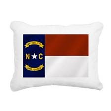 North Carolina Flag Rectangular Canvas Pillow