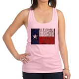 Retro Flag of Texas Racerback Tank Top