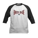 Biker Babe Kids Baseball Jersey