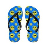 Walking on Sunshine Blue Flip Flops