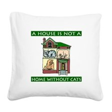 FIN-cats-house-home.png Square Canvas Pillow