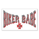 Biker Babe Rectangle Sticker
