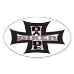 Biker Babe Oval Sticker