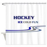 Hockey Ice Cold Fun Shower Curtain