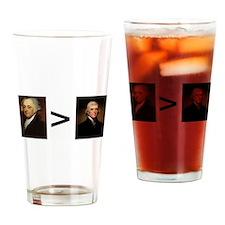 John greater than Tom Drinking Glass