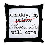 Austen Hero Throw Pillow