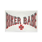 Biker Babe Rectangle Magnet (10 pack)