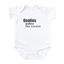 Goalies Police the Crease Infant Bodysuit