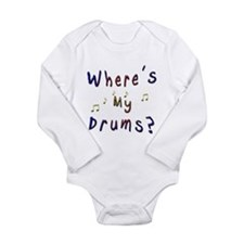 Where's My Drums Long Sleeve Infant Bodysuit
