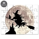 Flying Witch Moon Puzzle