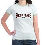 Biker Babe Jr. Ringer T-Shirt