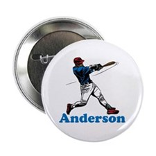 """Personalized Baseball 2.25"""" Button (10 pack)"""