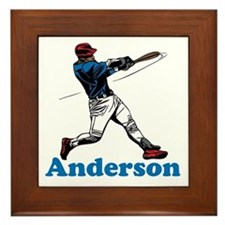 Personalized Baseball Framed Tile