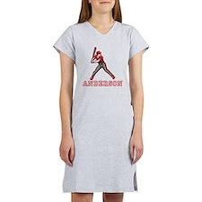 Personalized Baseball Women's Nightshirt