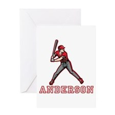 Personalized Baseball Greeting Card