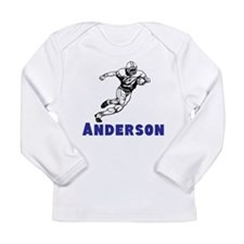 Personalized Football Long Sleeve Infant T-Shirt