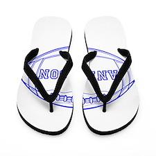 Personalized Football Flip Flops