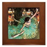 Edgar Degas The Green Dancer Framed Tile