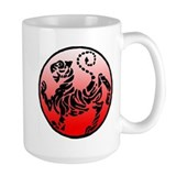 shotokan - black tiger on red and white Coffee Mug