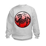 shotokan - black tiger on red and white Sweatshirt