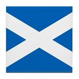 Scottish Flag Tile Coaster