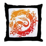 Tr-dragon Throw Pillow