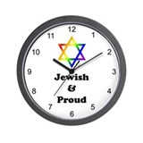 Jewish & Proud Wall Clock