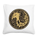 Celtic Unicorn Square Canvas Pillow
