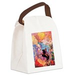 Odilon Redon Muse On Pegasus Canvas Lunch Bag