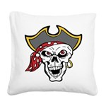Pirate Skull Square Canvas Pillow