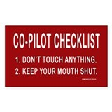 Co-Pilot Checklist Rectangle Decal