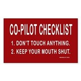 Co-Pilot Checklist Rectangle Stickers