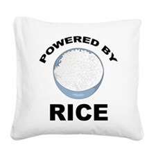 Powered By Rice Square Canvas Pillow
