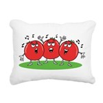 Singing Tomatoes Rectangular Canvas Pillow