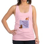 cats-support-staff.tif Racerback Tank Top