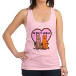 FIN-be-kind-to-animals.png Racerback Tank Top