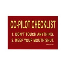 Co-Pilot Checklist Rectangle Magnet