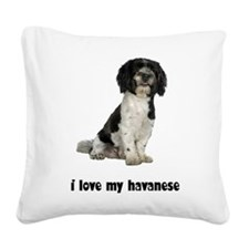 FIN-havanese-love.png Square Canvas Pillow
