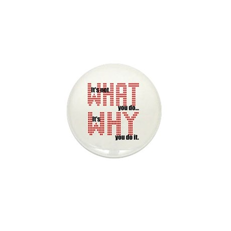 What Why Mini Button (100 pack)