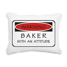 Attitude Baker Rectangular Canvas Pillow