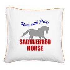 rwp-saddlebred-horse.tif Square Canvas Pillow