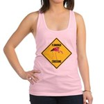 crossing-sign-flamingo.png Racerback Tank Top