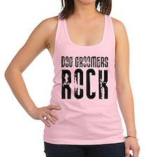 Dog Groomers Rock Racerback Tank Top
