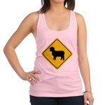 sheep-crossing-sign.tif Racerback Tank Top