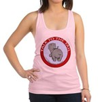 Hippo Talk To The Tail Racerback Tank Top