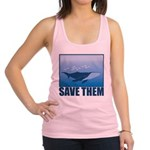 FIN-whale-save-them.png Racerback Tank Top