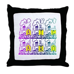 Big Bro Train Throw Pillow